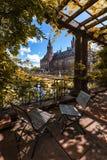 Fredslottträdgård i höst fotografering för bildbyråer