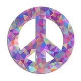 Fredsymbol på vit bakgrund Royaltyfri Foto