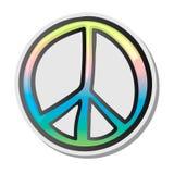 Fredtecken, emoji, klistermärke, emoticon, vektorillustration Fotografering för Bildbyråer