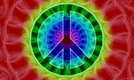 fredtecken för 2 fractal Arkivbilder