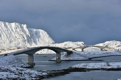 The Fredvang Bridges Stock Photos