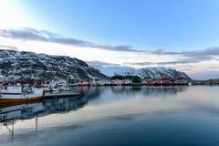 Fredvang - Lofoten-Eilanden, Noorwegen stock foto