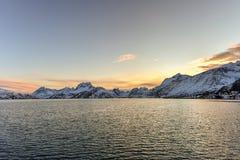 Fredvang - Lofoten-Eilanden, Noorwegen royalty-vrije stock afbeeldingen