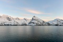 Fredvangbruggen - Lofoten-Eilanden, Noorwegen royalty-vrije stock foto's