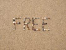 Free écrite avec des pierres et des coquilles Images libres de droits