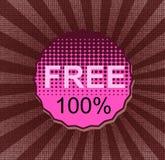 Free 100%. Round retro vintage sale sticker Royalty Free Stock Photography