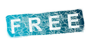 Free. Blue free stamp over white background. Illustration Royalty Free Stock Image