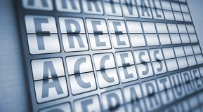 Free access information on display board Royalty Free Stock Photo