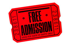 Free Admission royalty free stock images