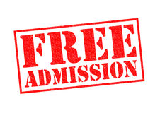 FREE ADMISSION Stock Photography