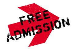 Free Admission rubber stamp Royalty Free Stock Photography