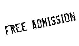 Free Admission rubber stamp stock illustration