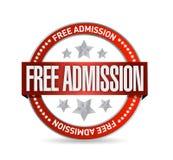 Free admission seal illustration design. Over a white background royalty free illustration
