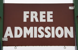 Free Admission Royalty Free Stock Photos