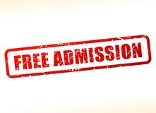 Free admission text buffered stock illustration