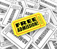 Free Admission Ticket Complimentary Access Invitation Royalty Free Stock Images