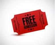 Free admission ticket illustration design. Over a white background royalty free illustration