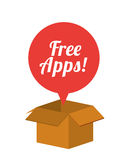 Free apps design Royalty Free Stock Photo