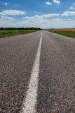 Free asphalt road on steppe royalty free stock photos