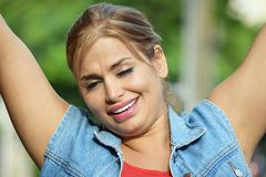 Free Attractive Person. A pretty young Colombian adult female stock image