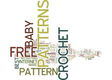 Free Baby Crochet Patterns Text Background Word Cloud Concept Royalty Free Stock Image