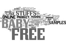 Free Baby Stuffs Online Word Cloud Concept. Free Baby Stuffs Online Text Background Word Cloud Concept Stock Photo