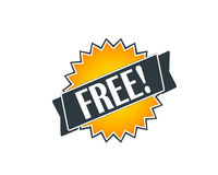 Free badge. Fresh free badge for online shop Royalty Free Stock Photo