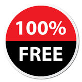 100% Free Badge. Vector image of a 100% free badge Vector Illustration