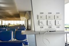 Free Free Battery Charging Station In The Airport Terminal For Traveler Royalty Free Stock Photos - 151039068