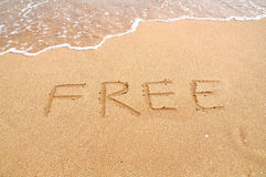 Free on the beach Royalty Free Stock Photo