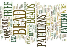 Free Bead Patterns Text Background  Word Cloud Concept Royalty Free Stock Images