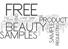 Free Beauty Samples What They Are And How To Find Them Word Cloud Concept. Free Beauty Samples What They Are And How To Find Them Text Background Word Cloud Stock Photo