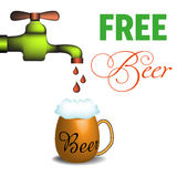 Free beer Royalty Free Stock Photos