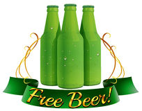 Free beer label Royalty Free Stock Images
