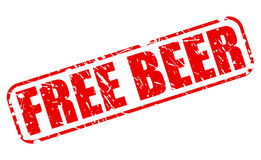 Free Beer red stamp text Stock Photography