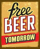 Free beer tomorrow Stock Image