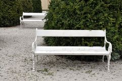 Free bench and park royalty free stock photography
