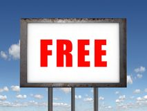 Free billboard. (high. res. background royalty free stock image