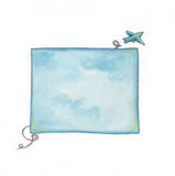 Free bird. Illustration of a flying bird out of the sky! Watercolors Royalty Free Stock Images