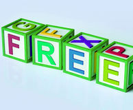 Free Blocks Mean Complimentary And No Charge Royalty Free Stock Photo