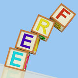Free Blocks Mean Gratis Or Without Charge Stock Photo
