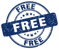 Free blue grunge round stamp. Free blue grunge round vintage rubber stamp Royalty Free Stock Photos