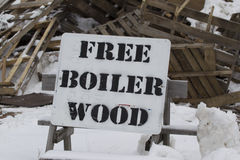 Free Boiler Wood Pallets Royalty Free Stock Photography