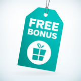 Free bonus gift tag. Tag.  from background. layered Royalty Free Stock Images
