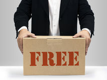 Free brown paper box Stock Images