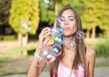 Free the bubbles. Royalty Free Stock Photos