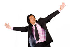 Free businessman. Young indonesian man in a business suit stock photos