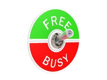 Free busy toggle switch. Image with white background Stock Photos