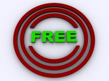 Free button Royalty Free Stock Image