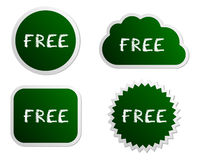 Free buttons Royalty Free Stock Photo